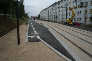 Travaux du tram - Rue des Cras